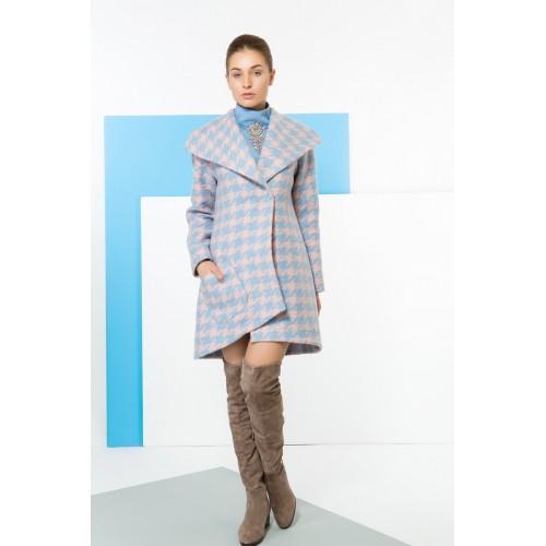 Пальто PRINCELY розово-голубое