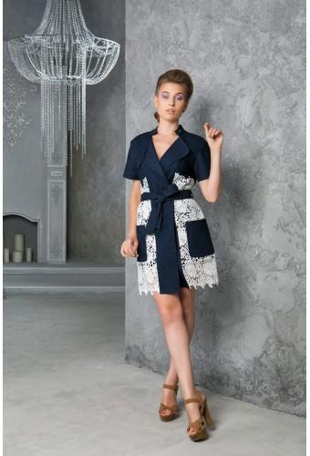Платье-накидка короткое